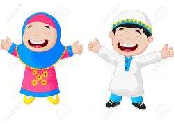 Veil clipart islamic child