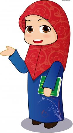 Veil clipart muslimah cartoon