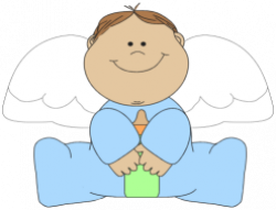 Little Boy clipart angel