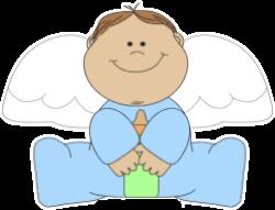 Little Boy clipart angel