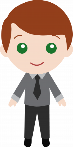 Men clipart suit cartoon