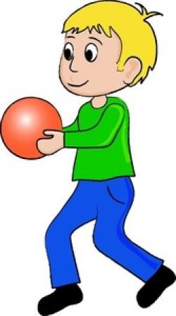 Little Boy clipart ball