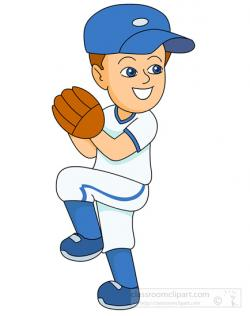 Pitcher clipart throw ball