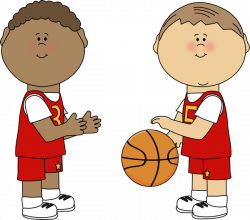 Little Boy clipart basketball player
