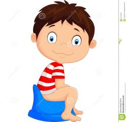 Little Boy clipart boy potty