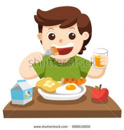 Little Boy clipart breakfast