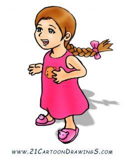 Short Hair clipart cartoon character female