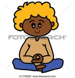 Meditation clipart kid meditation