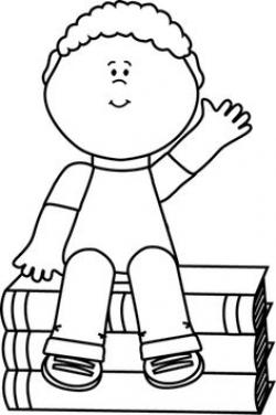 Sitting Clipart Black And White