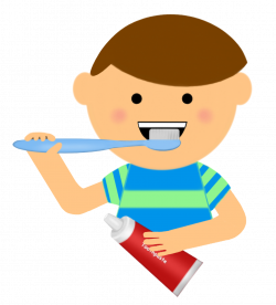 Child clipart brush tooth