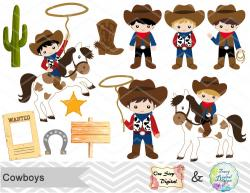 Wild West clipart cowboy theme