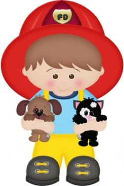 Little Boy clipart fireman