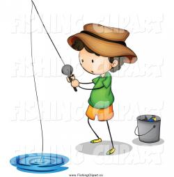 Little Boy clipart fishing
