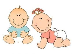 Twins clipart baby diaper