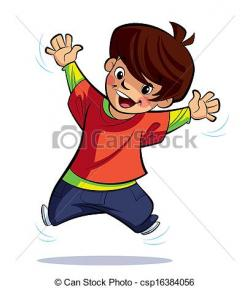 Jump clipart happy boy