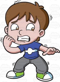 Little Boy clipart nervous