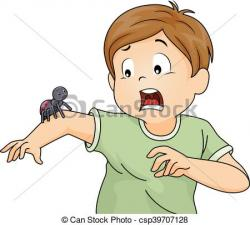 Chase clipart scared kid