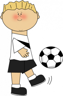 Little Boy clipart soccer