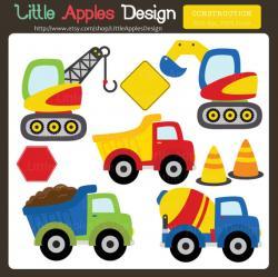 Truck clipart kid construction
