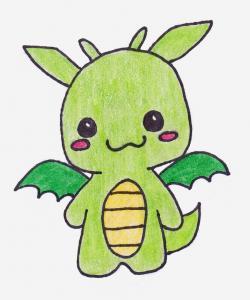 Drawn dragon adorable dragon