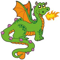 Ferocious clipart dragon tail