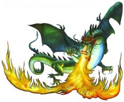 Dragon clipart fire breathing dragon