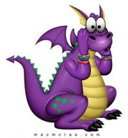 Little Dragon clipart purple dragon