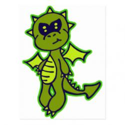 Little Dragon clipart scared