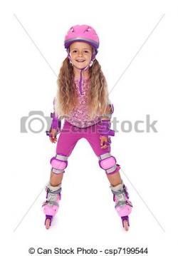 Little Girl clipart roller skating