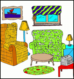 Lounge clipart cartoon