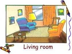 Living Room clipart different part the house