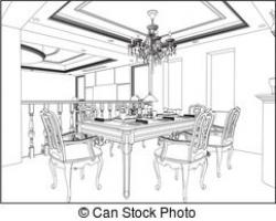 Living Room clipart dining area