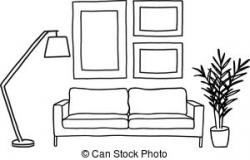 Living Room clipart line drawing