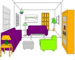 Living Room clipart tidy