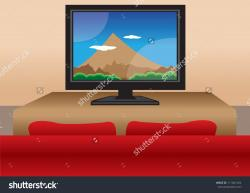 Living Room clipart tv room