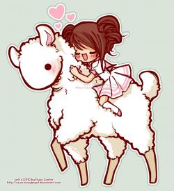 Drawn llama love