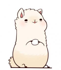 Drawn alpaca adorable
