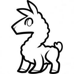 Drawn llama funny