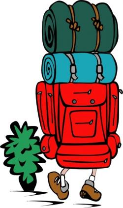 Loading clipart backpacker