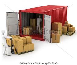 Container clipart warehouse worker
