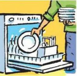 Loading clipart empty dishwasher