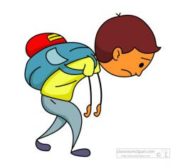 Loading clipart heavy backpack