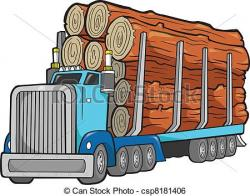 Loading clipart log truck