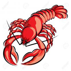 Crawfish clipart lobster dinner