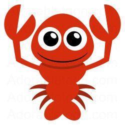 Crayfish clipart cute