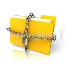 Lock clipart data security