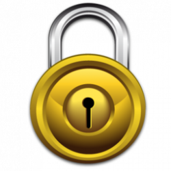 Lock clipart gold