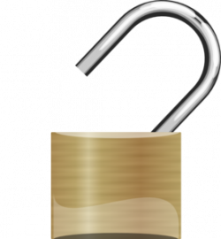 Lock clipart open padlock