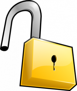 Licker clipart open padlock