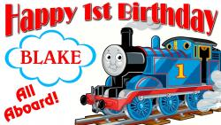 Thomas The Tank Engine clipart happy birthday